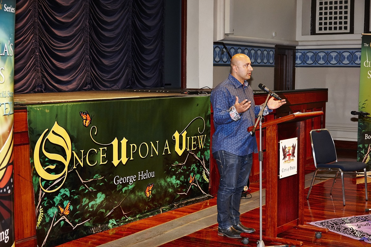 Once Upon A View banner George Helou speech